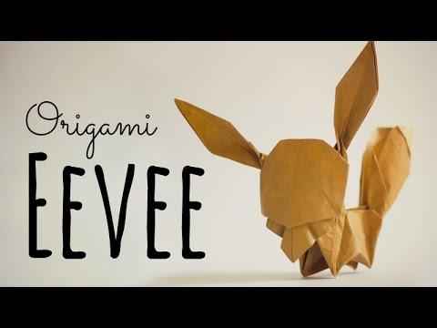 Ako si vyrobiť Origami #3 – Eevee (Pokémon)