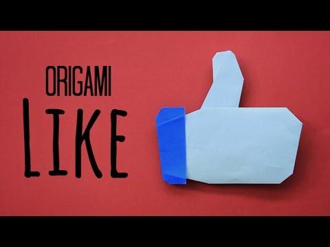 Ako si vyrobiť Origami #4 – Like na Facebooku