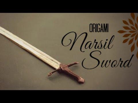 Ako si vyrobiť Origami #7 – Narsil Sword