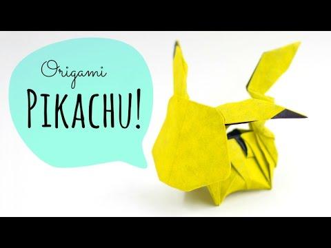 Ako si vyrobiť Origami #2 – Pikachu (Pokémon)