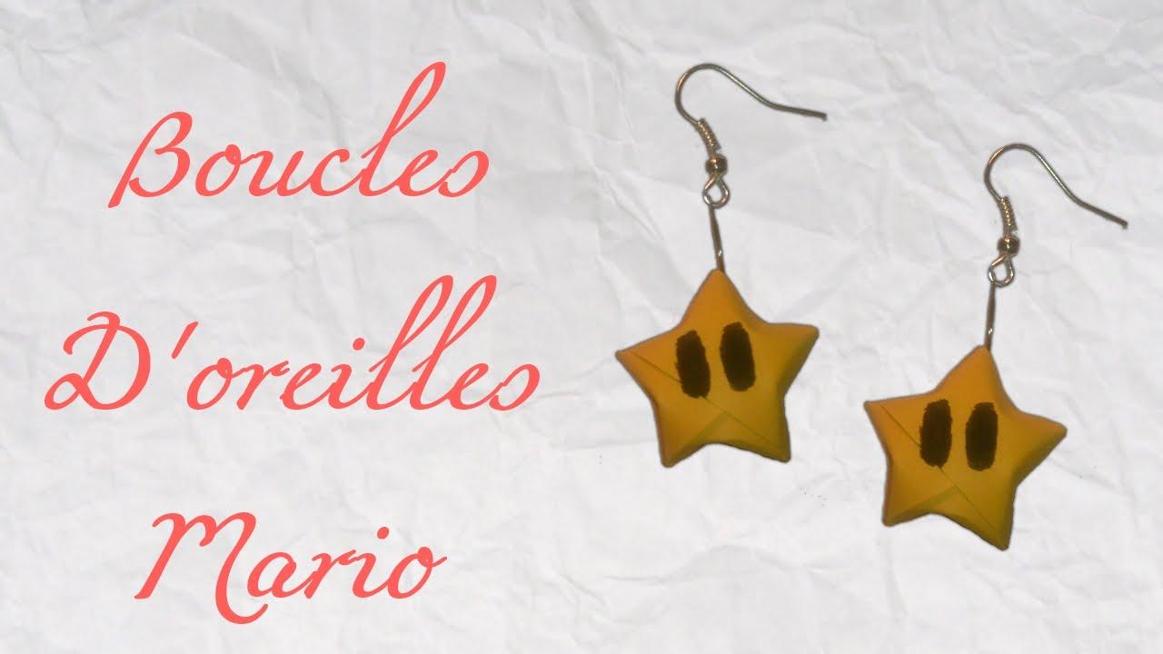Ako si vyrobiť origami #22 – Náušnice Mario Stars