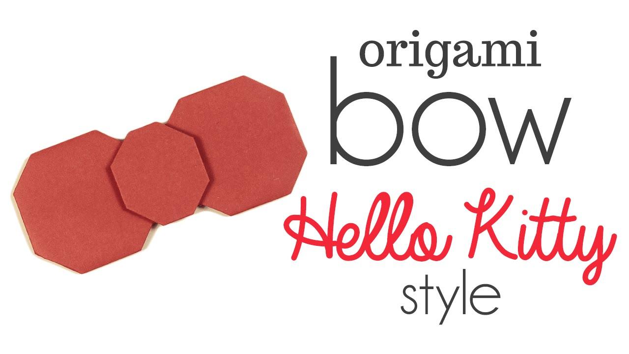 Ako si vyrobiť origami #16 – Hello Kitty mašlička