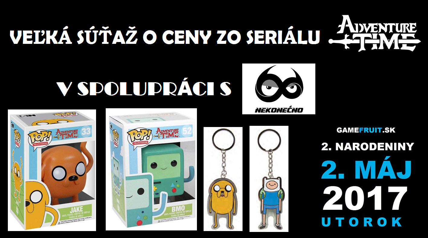 Víťazi – 2. ROKY GAMEFRUIT.SK – Veľká súťaž o ceny zo seriálu Adventure Time v spolupráci s Nekonečno.sk – Obchod pre každodenných hrdinov