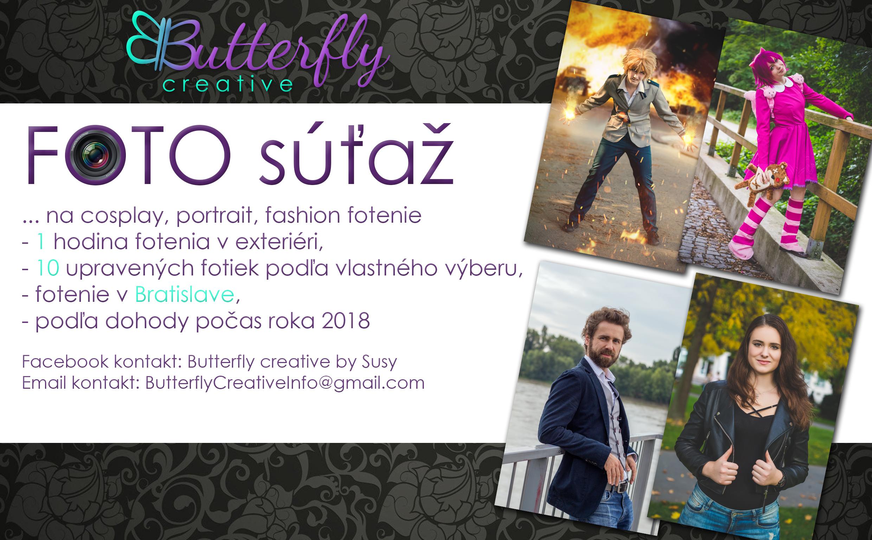 Veľká foto súťažna cosplay, portrait alebo fashion fotenie v spolupráci s Butterfly creative by Susy
