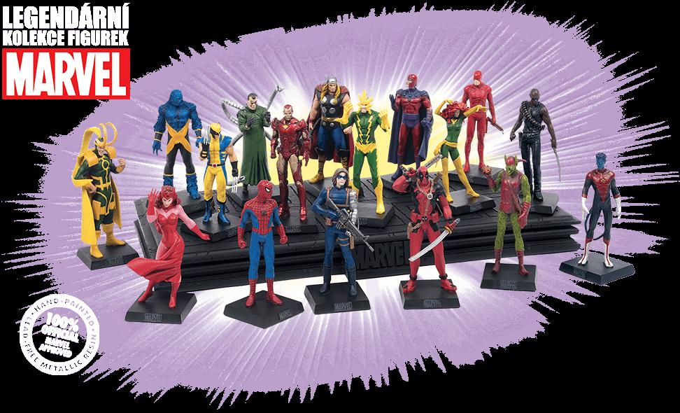 Kompletný zoznam komiksových kompletov – Marvel – Legendární kolekce figurek
