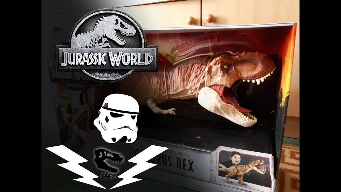 JPrexové recenzie na figúrky#1 –SUPER COLOSSAL TYRANNOSAURUS REX | Mattel JURASSIC WORLD | Unboxing s JPRexom