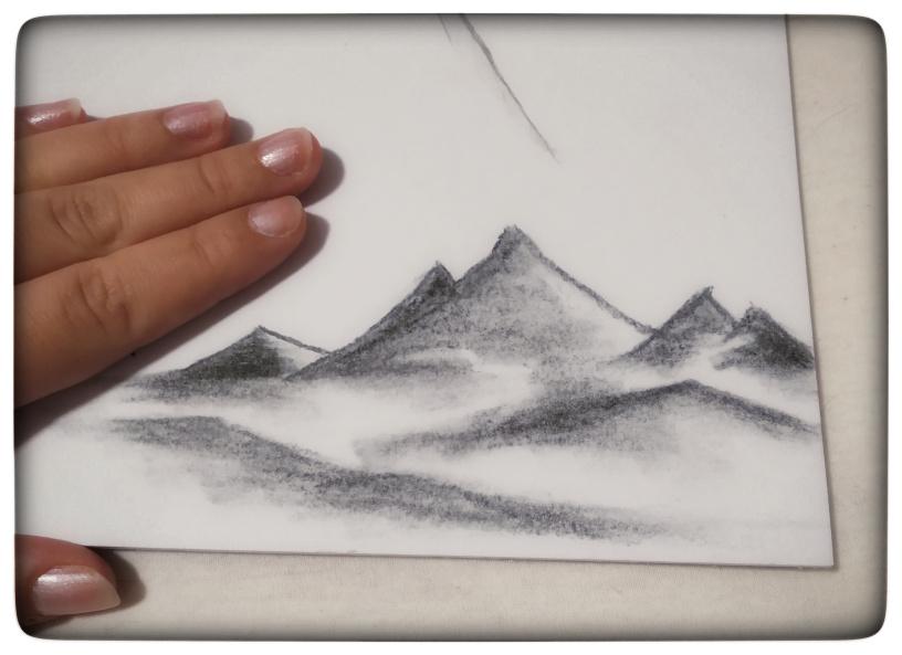 Pokus: maľba na plátno/uhlík