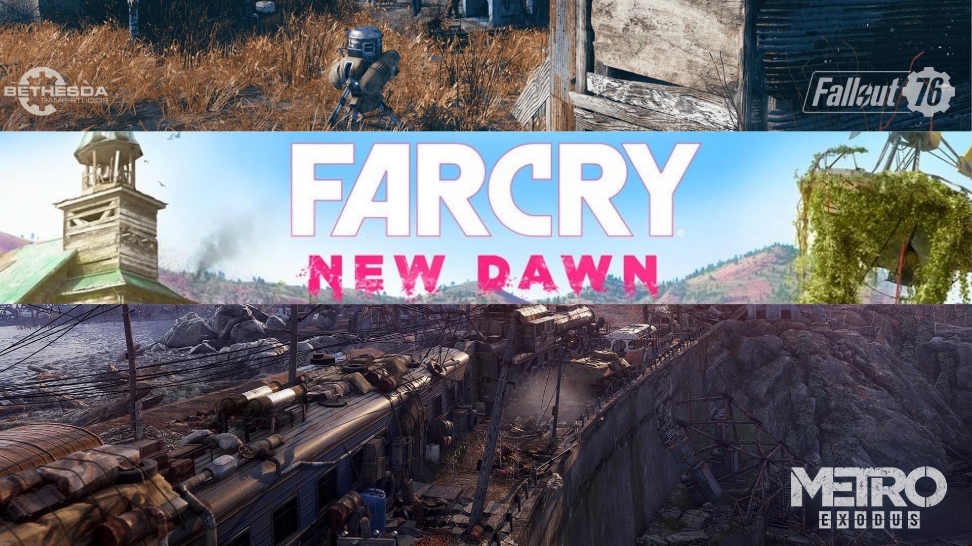 Do dvorečka do dvora smutný mesiac pozerá (Fallout 76, Far Cry 5 – New Dawn, Metro – Exodus)